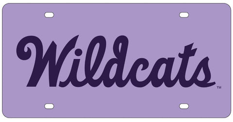 Kansas State Wildcats Lavender Acrylic License Plate - 2010191