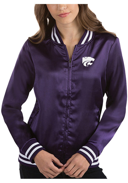 Kansas State Wildcats Antigua Women's Strut Satin Bomber Jacket - 2006589