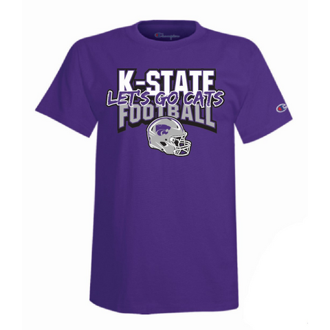 Kansas State Wildcats Champion 2021 Football Schedule T-Shirt - 2010428