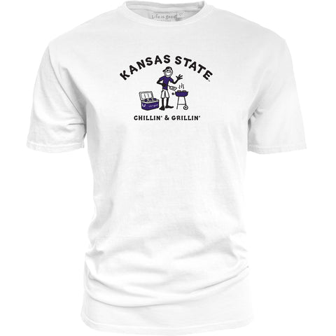 Kansas State Wildcats Life Is Good Jake Grill T-Shirt - 2008869