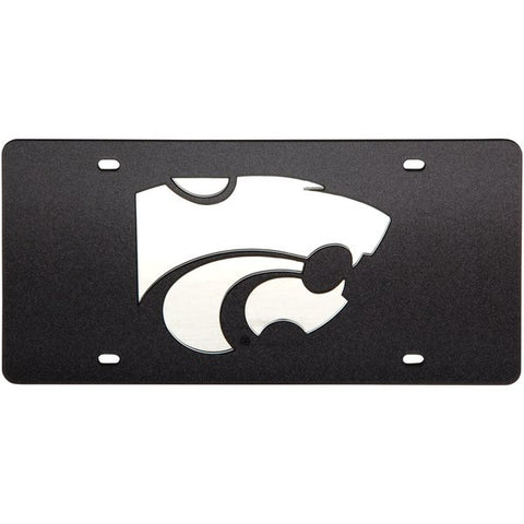 Kansas State Wildcats Black Glitter License Plate - 2007876