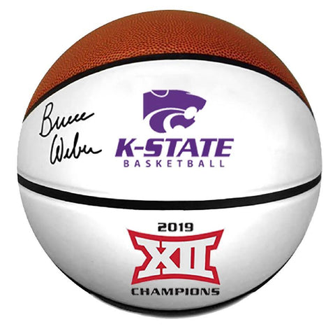 K-State Wildcats Bruce Weber Autographed Basketball - 2009287