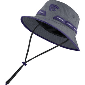 Kansas State Wildcats Nike Grey Sideline Bucket Hat - 2009236