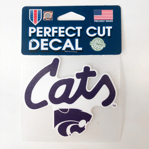 Kansas State Wildcats Cats 4x4 Decal - 2008642