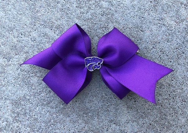 Kansas State Wildcats Large Crystal Bow - 2007856