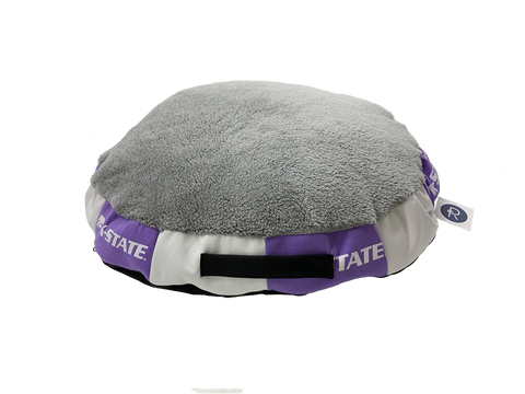 Kansas State Wildcats Reborn Round Dog Bed - 2009216