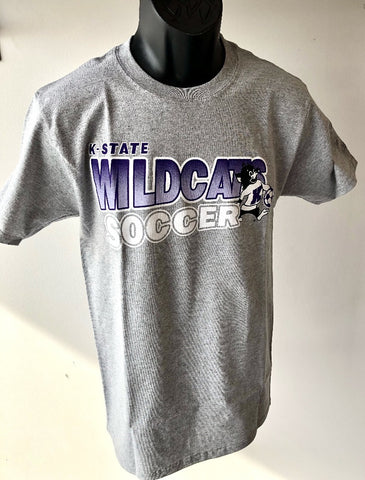 Kansas State Wildcats Champion Willie the Wildcat Soccer T-Shirt - 2008353
