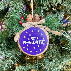 Kansas State Wildcats Glitter Wood Stump Ornament - 2009101