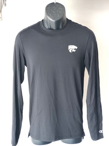 Kansas State Wildcats Champion Black Active Luxe Long Sleeve T-Shirt - 2009270
