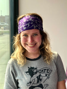 Kansas State Wildcats Stacked Headband - 2008894