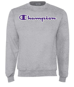 Grey Champion Script Crewneck Sweatshirt - 2009573