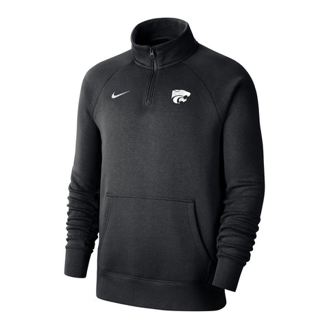 Kansas State Wildcats Nike Black Club 1/4 Zip Sweatshirt - 2008686