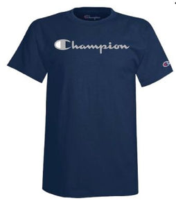 Navy Champion Script Active Luxe T-Shirt - 2009549
