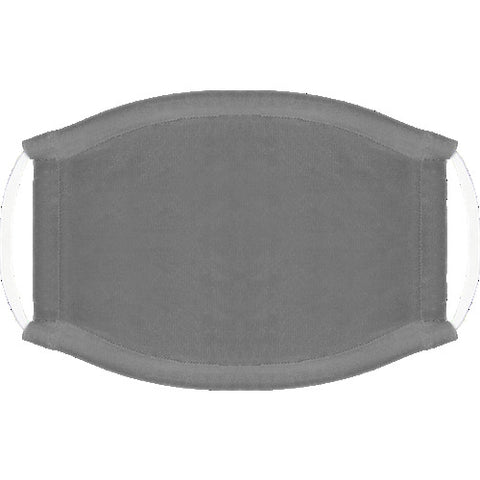 Solid Platinum Gray Face Mask - 2009306