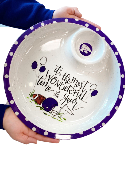 Kansas State Wildcats Melamine Chip and Dip Bowl - 2009115