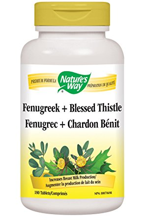 Fenugreek + Blessed Thistle Capsules Special for  Lactation, Breast Enlargement