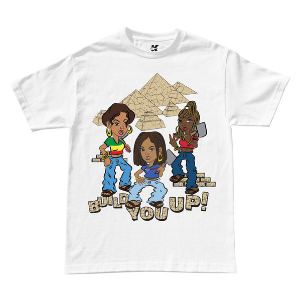 BUILD YOU UP TEE (WHITE)
