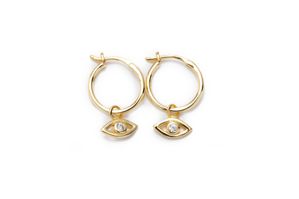 Mini Evil Eye Hoops