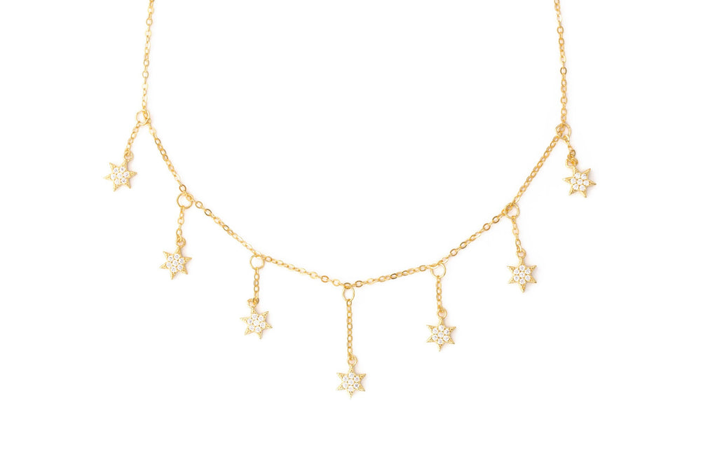 Load image into Gallery viewer, Hanging Stars Choker