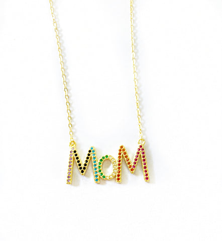 Rainbow MoM Necklace