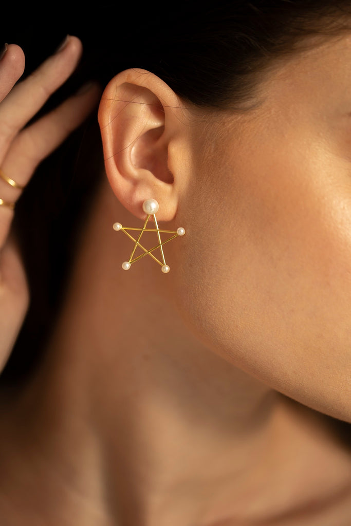 Pearly Star Earrings