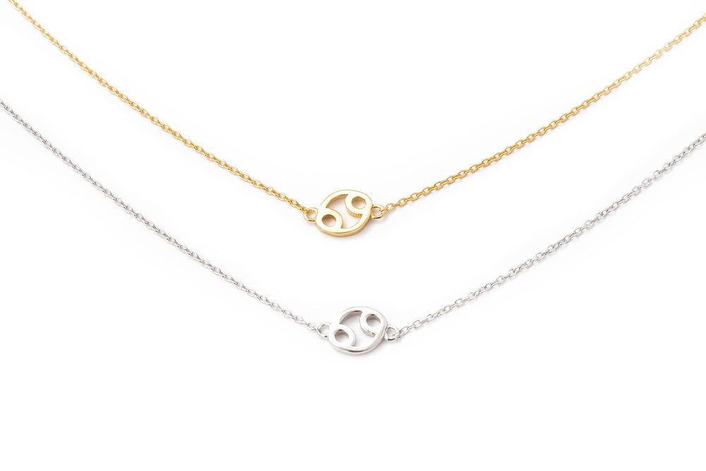 Mini Sideways Zodiac Necklace