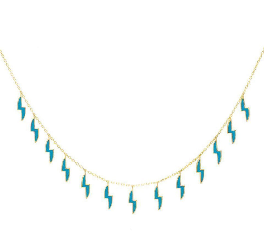 Load image into Gallery viewer, Teal Lightning Choker
