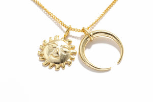 Load image into Gallery viewer, Moon & Sun Necklace