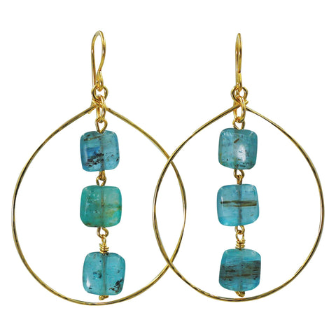 Kyanite Earrings - Sati Gems Hawaii Healing Crystal Gemstone Jewelry