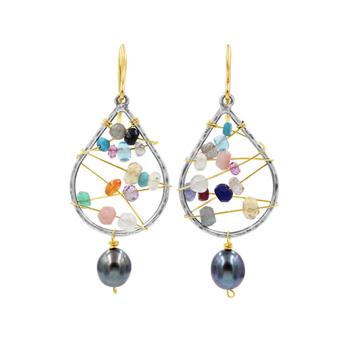 Sweet Dream Multi Gemstone Earrings - Sati Gems Hawaii Healing Crystal Gemstone Jewelry