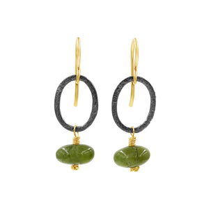 Loving Heart Green Garnet Earrings - Sati Gems Hawaii Healing Crystal Gemstone Jewelry