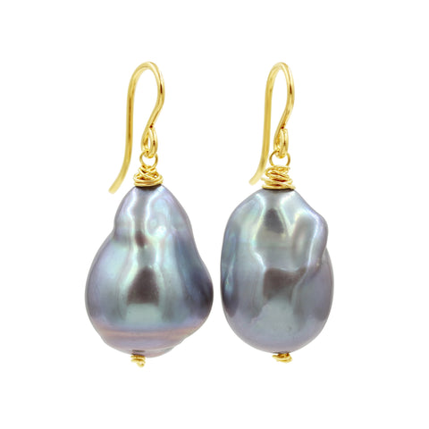 Simply Love Pearl Earrings - Sati Gems Hawaii Healing Crystal Gemstone Jewelry
