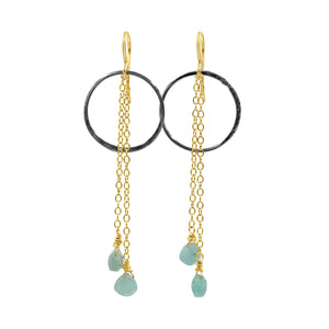 Peace & Love Amazonite Earrings - Sati Gems Hawaii