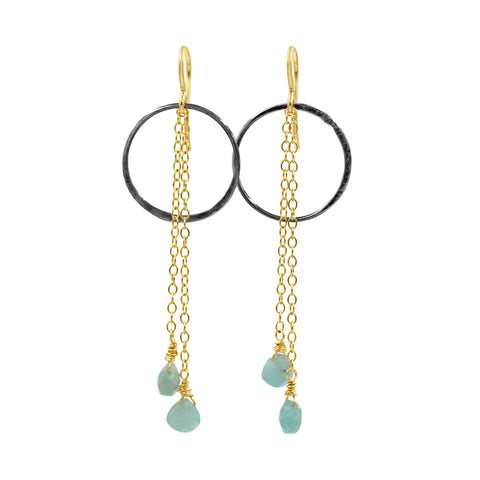 Peace & Love Amazonite Earrings - Sati Gems Hawaii Healing Crystal Gemstone Jewelry