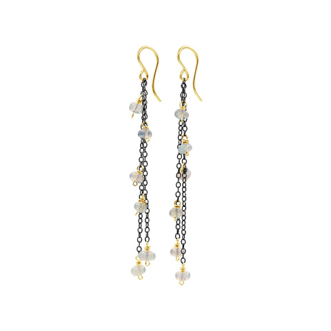 Sparkle Opal Earrings - Sati Gems Hawaii Healing Crystal Gemstone Jewelry