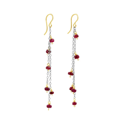 Ruby Love Earrings - Sati Gems Hawaii Healing Crystal Gemstone Jewelry