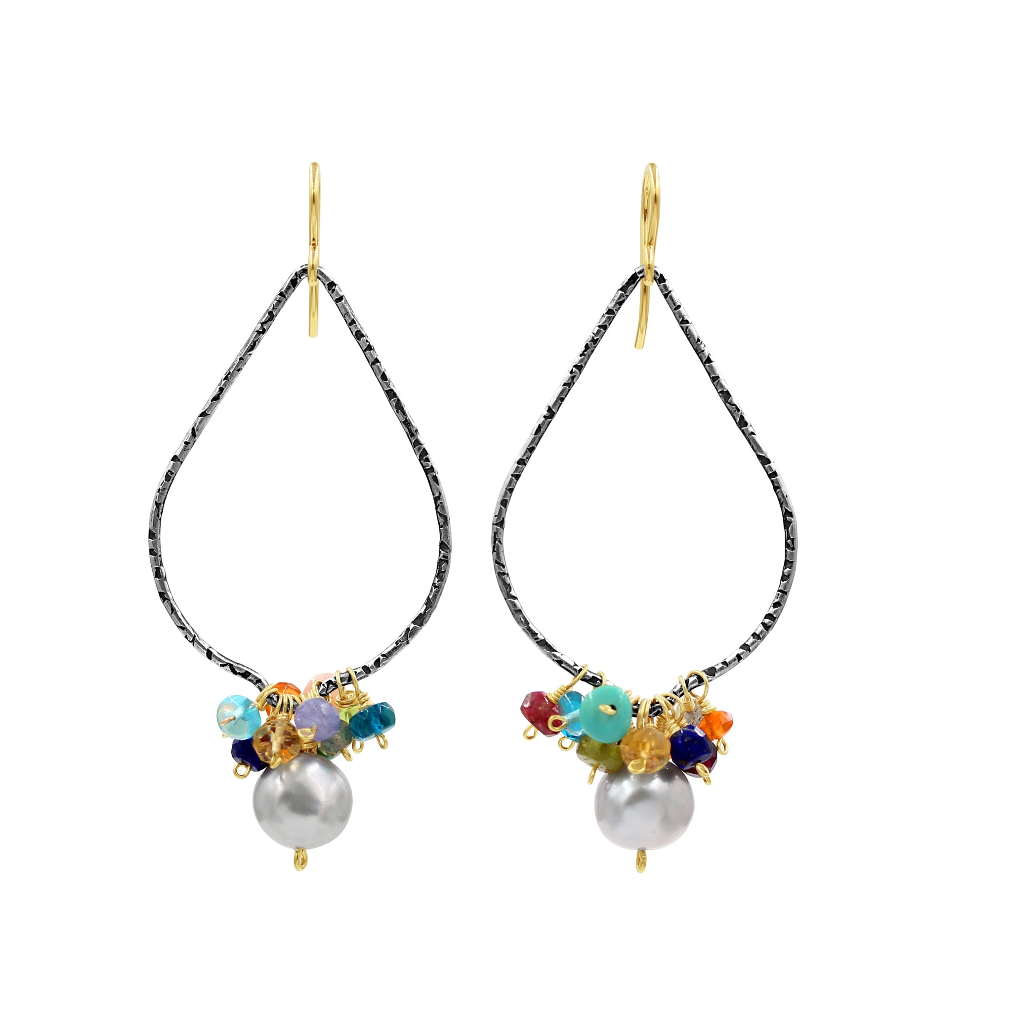 Feel Forever Lovely Multi Gemstone Earrings - Sati Gems Hawaii