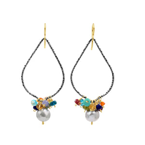 Feel Forever Lovely Multi Gemstone Earrings - Sati Gems Hawaii Healing Crystal Gemstone Jewelry