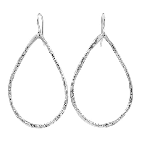 Simple is Best Silver Hoop Earrings - Sati Gems Hawaii Healing Crystal Gemstone Jewelry