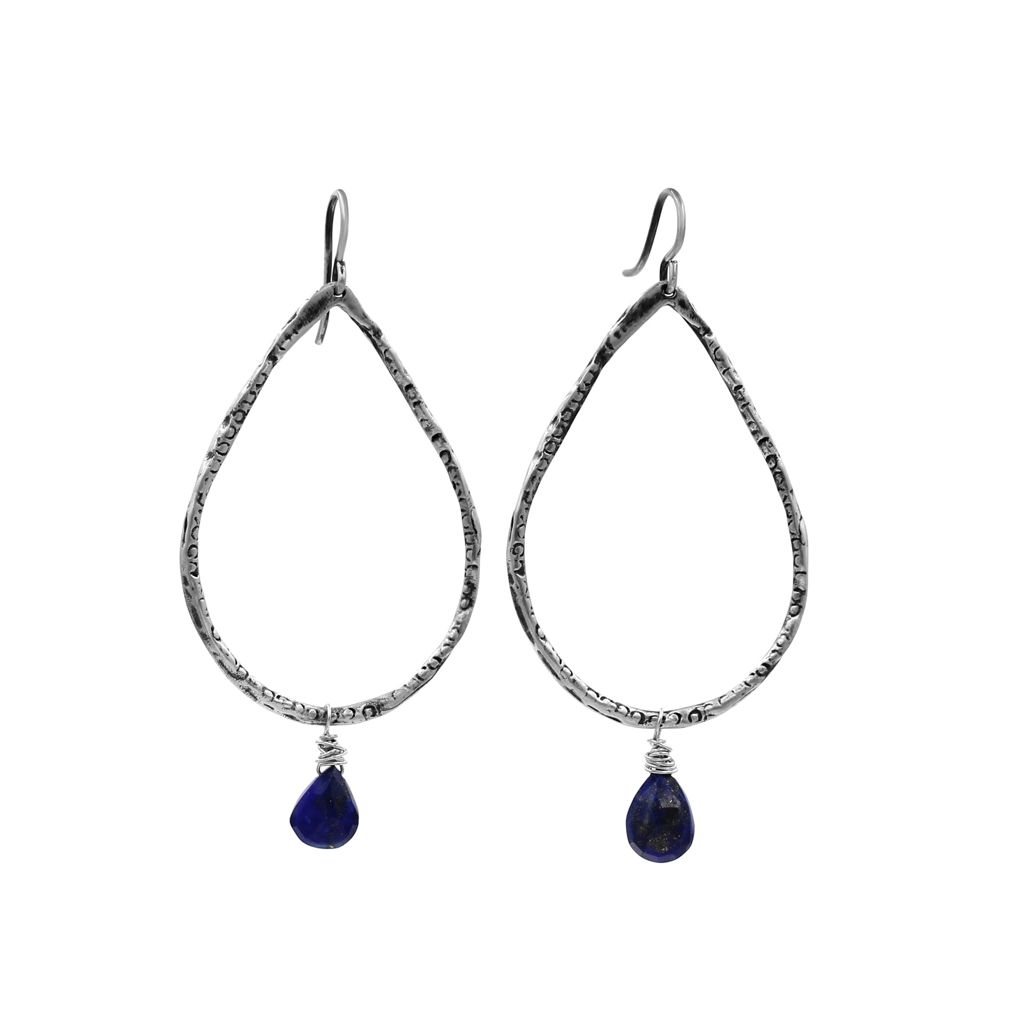 Radiance Lapis Earrings - Sati Gems Hawaii Healing Crystal Gemstone Jewelry