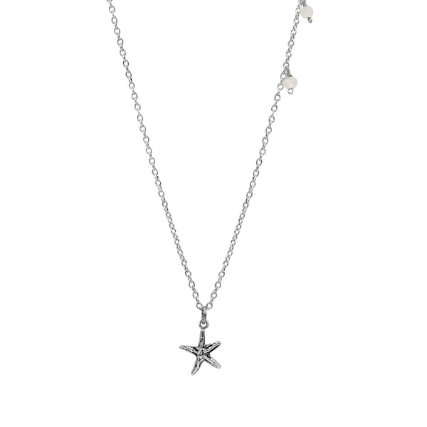 Water Drop Starfish Necklace - Sati Gems Hawaii Healing Crystal Gemstone Jewelry
