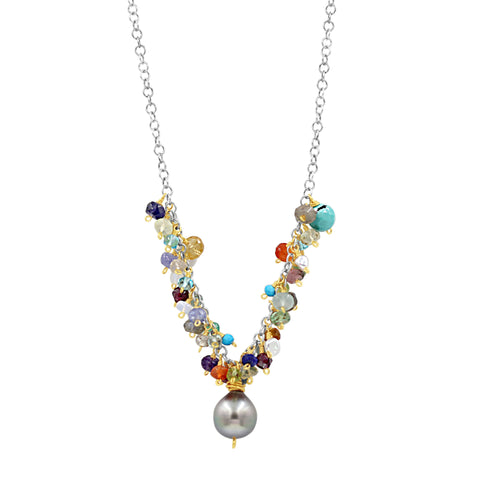 Prosperity Multi Gemstone Necklace - Sati Gems Hawaii Healing Crystal Gemstone Jewelry