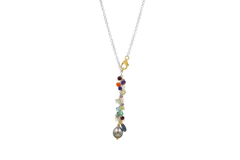 Joy Multi Gemstone Necklace - Sati Gems Hawaii Healing Crystal Gemstone Jewelry