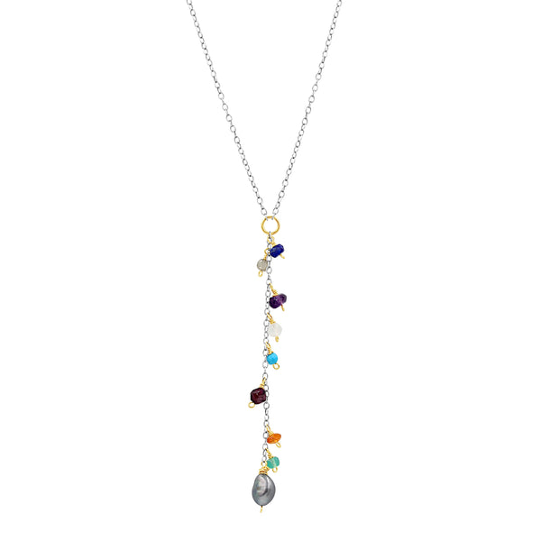 Everyday Happiness Multi Color Gem Necklace - Sati Gems Hawaii