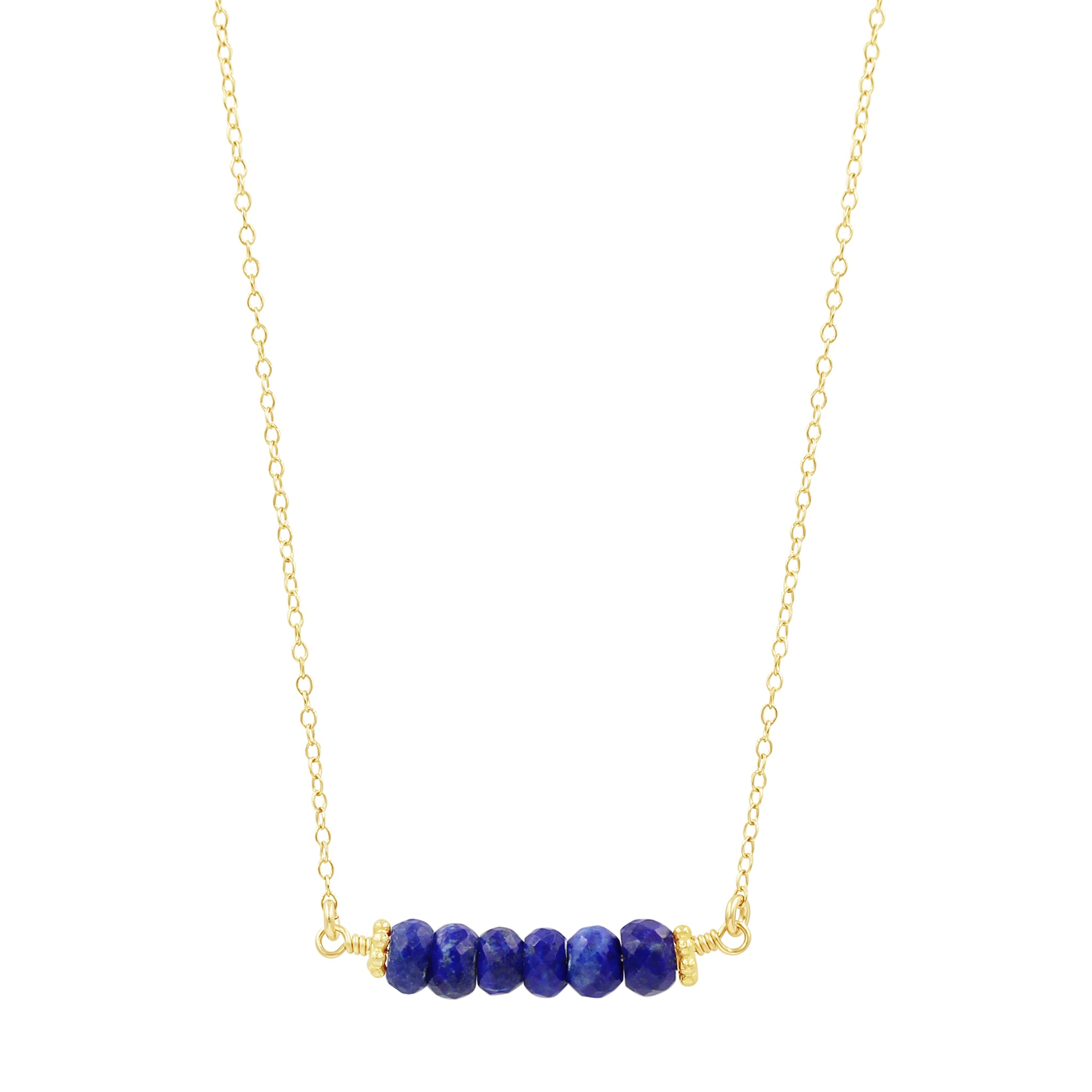True Blue Lapis Necklace - Sati Gems Hawaii Healing Crystal Gemstone Jewelry