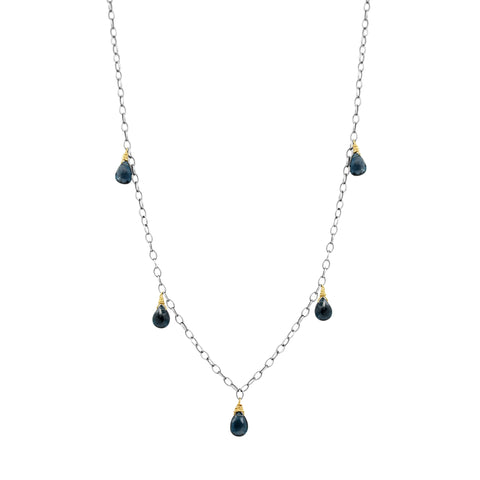 Kanani London Blue Topaz Necklace - Sati Gems Hawaii Healing Crystal Gemstone Jewelry