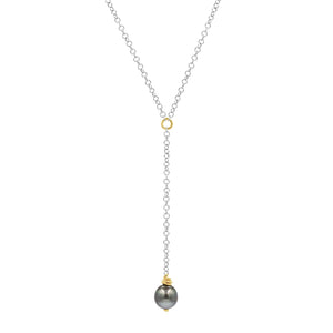Night Lights Tahitian Pearl Necklace - Sati Gems Hawaii