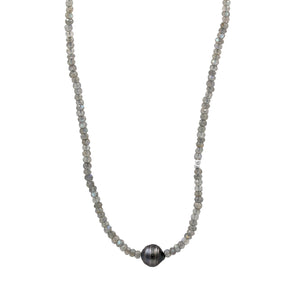 Timeless Lessons Tahitian Pearl Necklace - Sati Gems Hawaii Healing Crystal Gemstone Jewelry