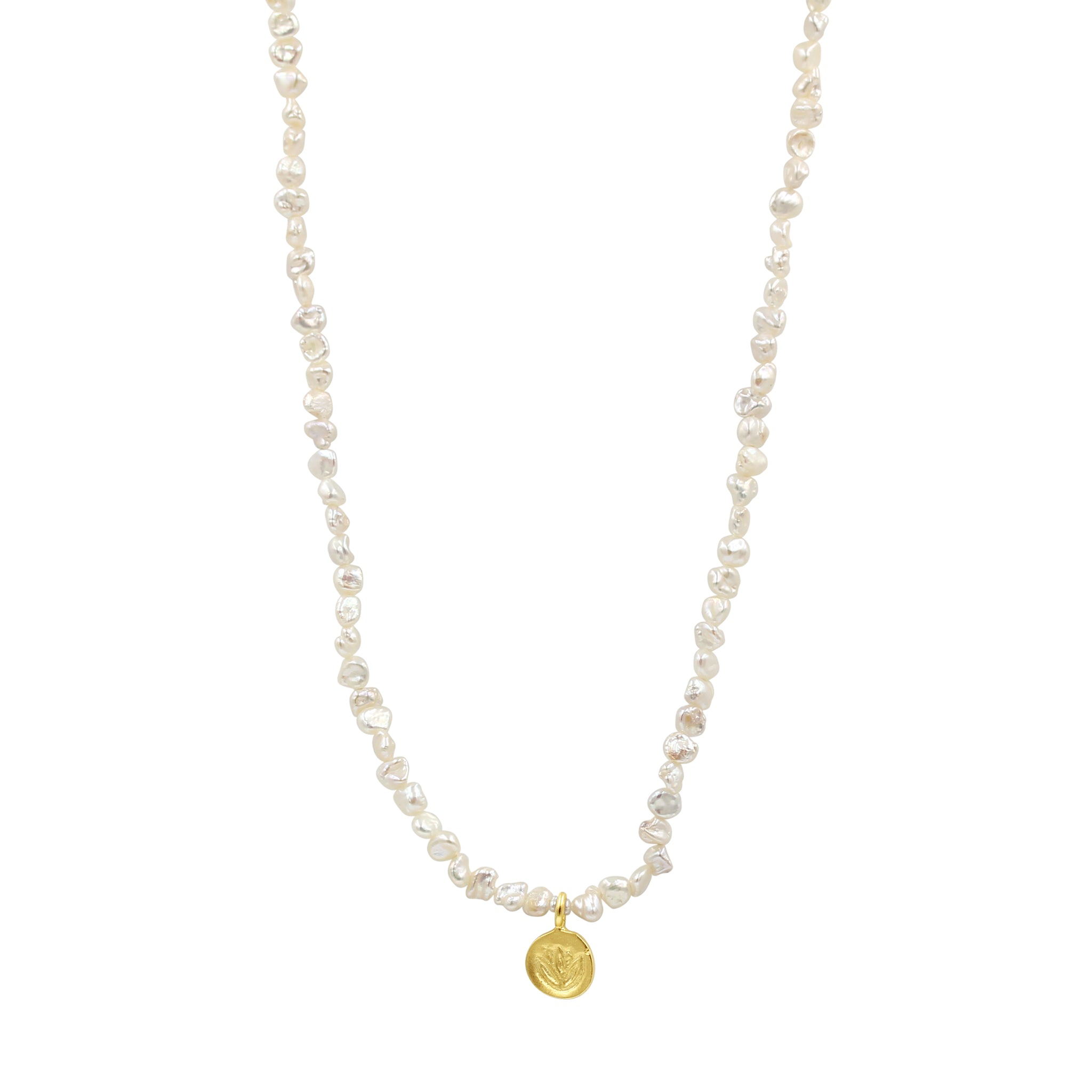 Journey Pearl Lotus Necklace - Sati Gems Hawaii