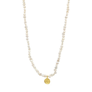 Journey Pearl Lotus Necklace - Sati Gems Hawaii Healing Crystal Gemstone Jewelry